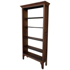 19th French Walnut & Ebonized Bookcase or Étagère with Five Adjustable Shelves
