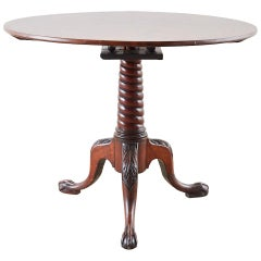 19th Georgian Mahogany Round Tilt-Top Table