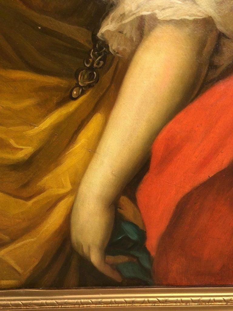 Empire 19th Italian School Painting Noblewomen Portrait For Sale