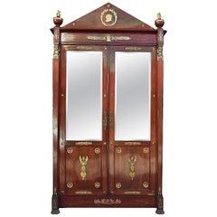 19th Century Mahogany Empire Style Cabinet