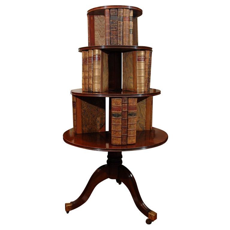 19th mahogany revolving bookcase