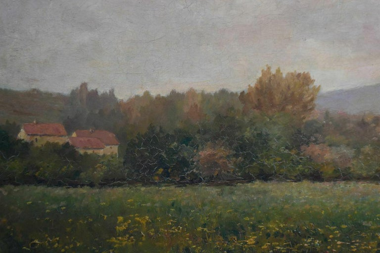 French 19th Oil On Canvas Landscape By Paul Huet For Sale