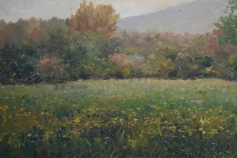 Painted 19th Oil On Canvas Landscape By Paul Huet For Sale
