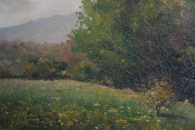 19th Century 19th Oil On Canvas Landscape By Paul Huet For Sale