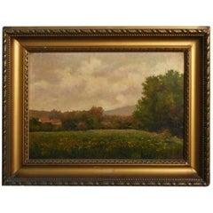 19th Oil On Canvas Landscape By Paul Huet