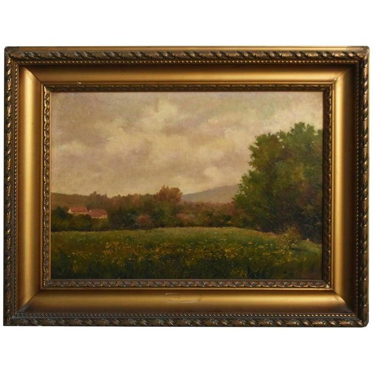 19th Oil On Canvas Landscape By Paul Huet For Sale