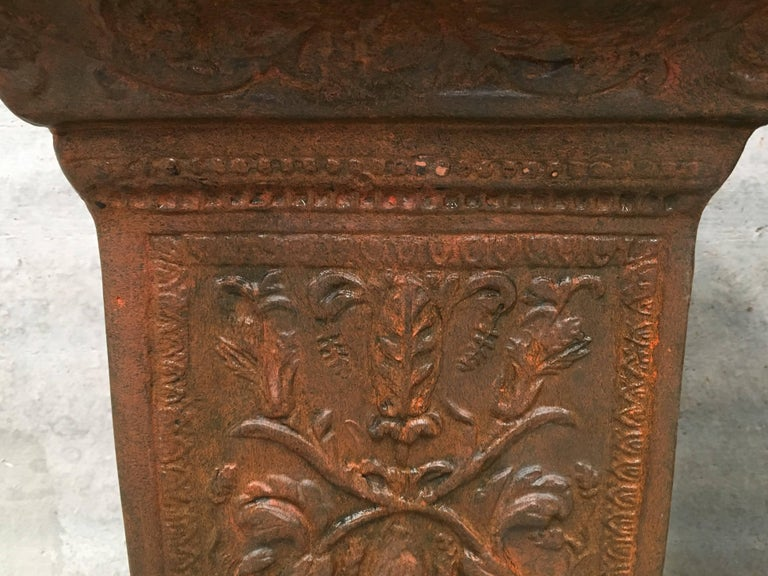 19th Pair of Columns or Pedestals in Glazed Handmade Terracotta For Sale 3