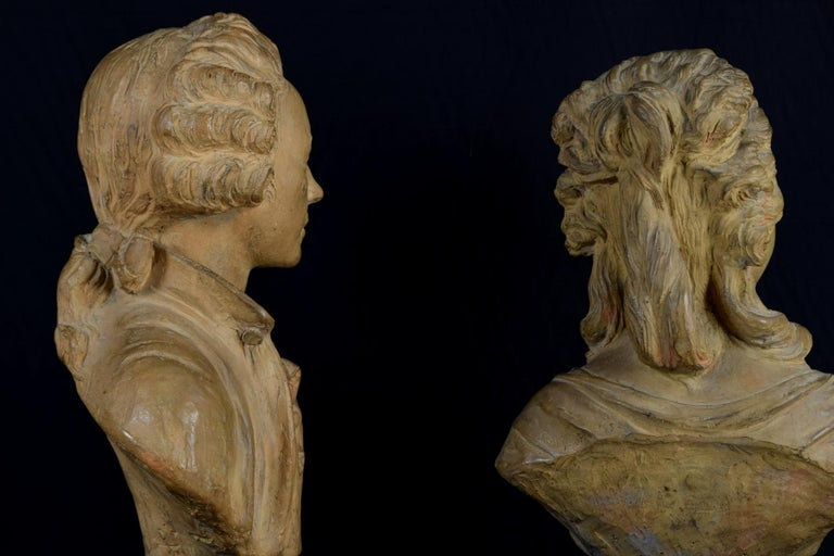 19th Century, Pair of Terracotta French Busts For Sale 13