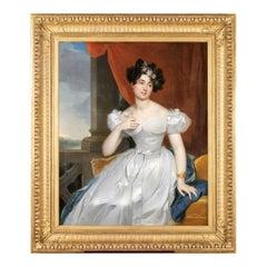19th Century Portrait of Valentine Julie de Contades, R-T Berthon '1776-1849'