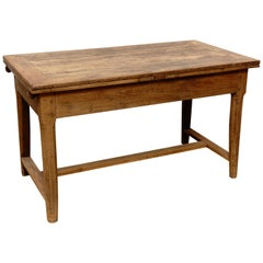 19th Century Rustic Extensible Popular Oak Dining Table