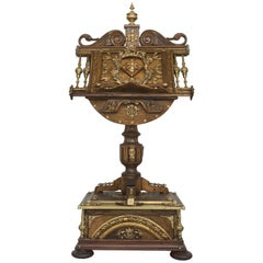 19th Spanish Century Louis XV Lectern / Lutrin Ornate Multiple Carved Heads