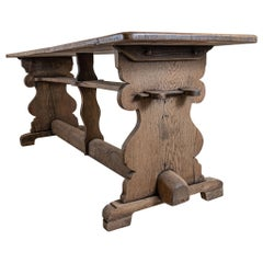 19th Swedish Century Oak Tavern Plank Topped Dining or Kitchen Table