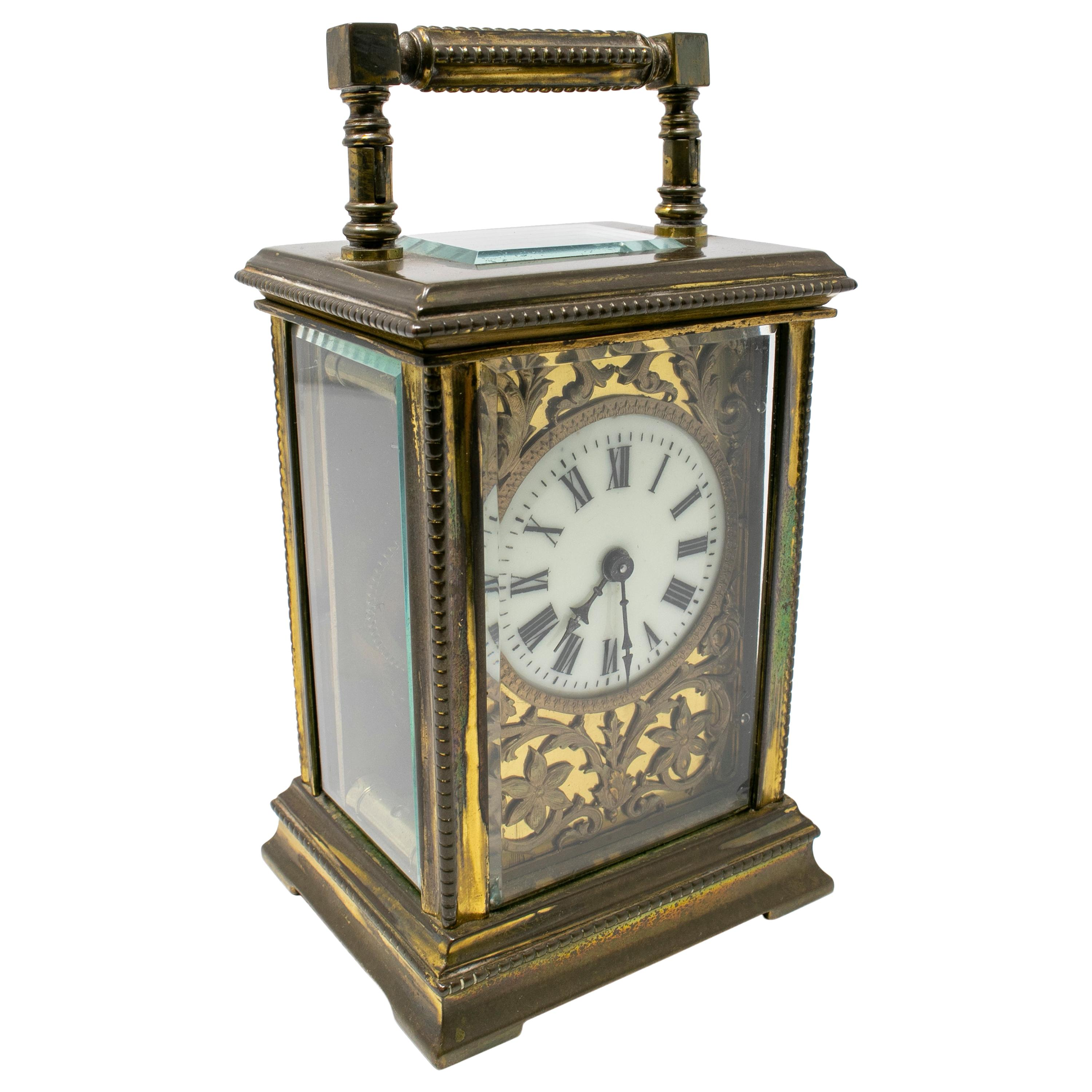 19th Swiss Made French Bronze Horse Carriage Clock