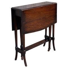 19th Victorian Small Salesman Sample Gateleg Folding Side Table