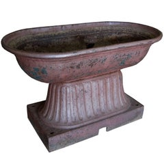 19th-20th Century American Painted Iron Horse Trough