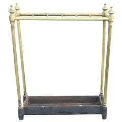 19th-20th Century Classic English Brass Umbrella Stand