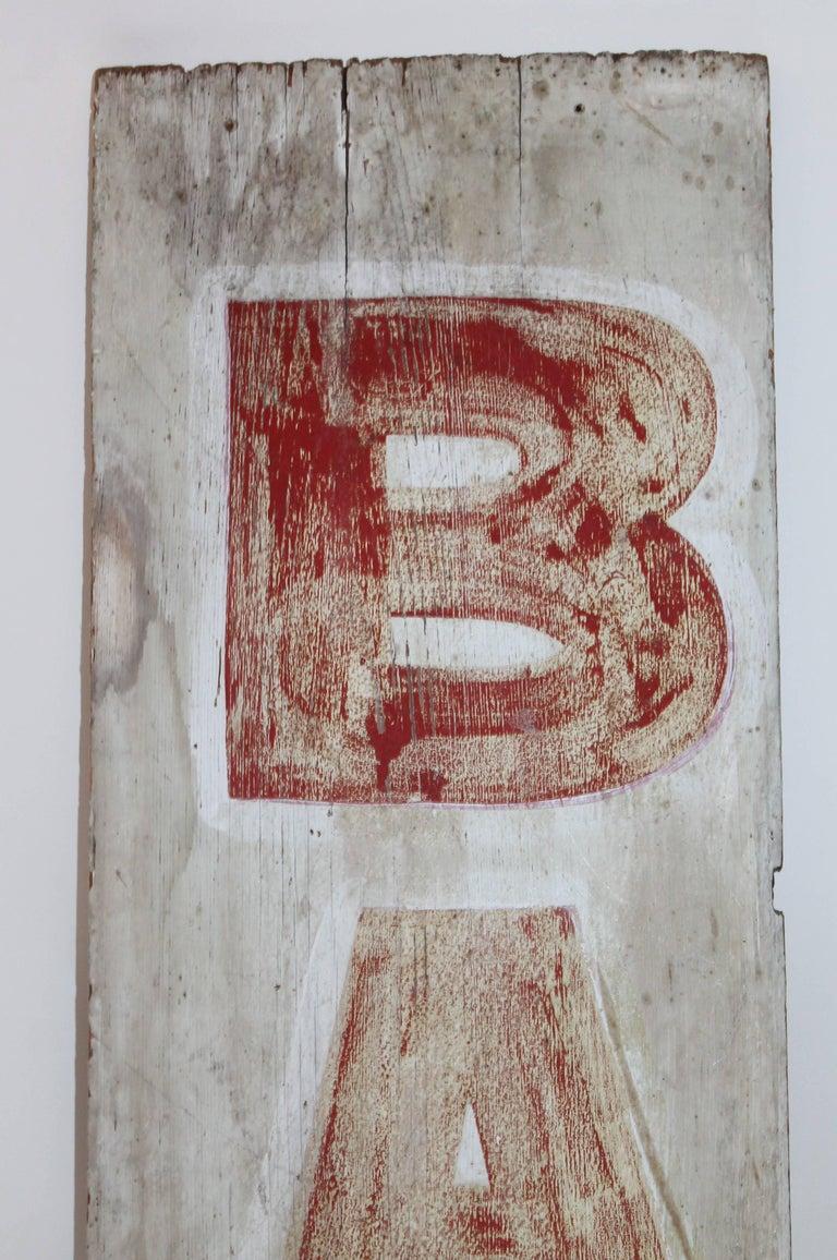 This 19th century original red on white ground painted
