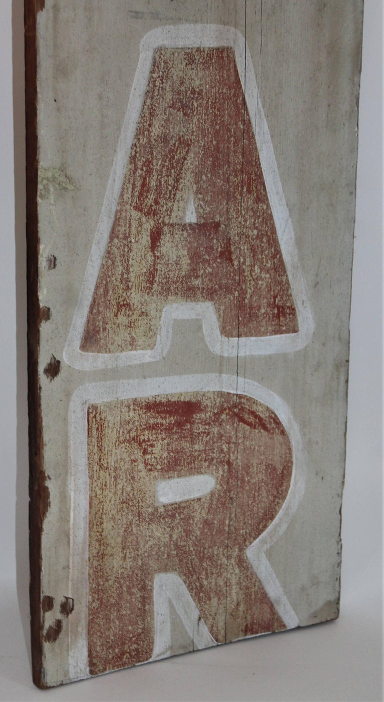 19th Century Bar Trade Sign in Original Paint For Sale 1