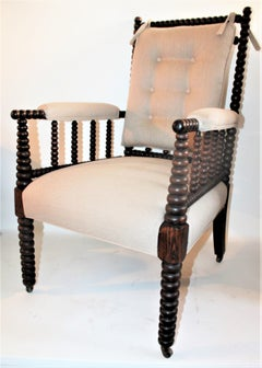 19Thc Barley Twist Spool Chair In Natural Linen