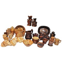19th Century Bennington Pottery Collection, 30 Pieces