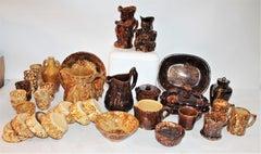 19Thc Bennington Pottery Collection -30 Pieces