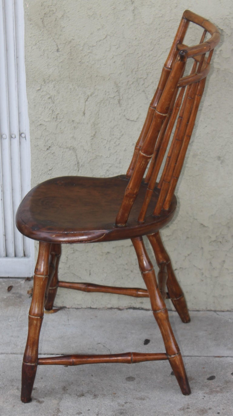 Hand-Crafted 19th Century Bird Cage Windsor Chairs from Pennsylvania -4 For Sale