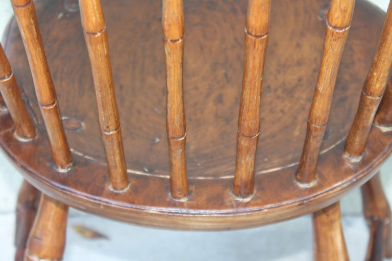 Pine 19th Century Bird Cage Windsor Chairs from Pennsylvania -4 For Sale