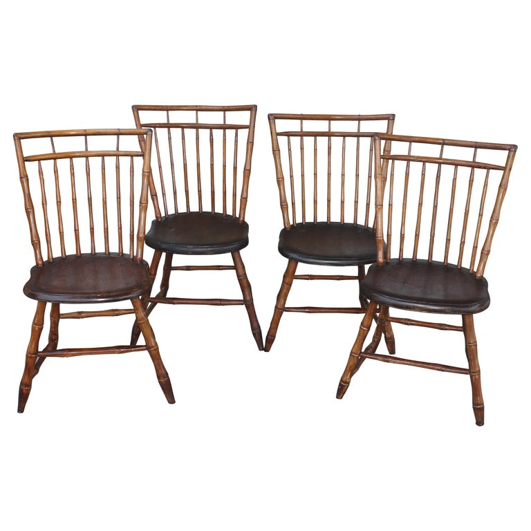 19th Century Bird Cage Windsor Chairs from Pennsylvania -4 For Sale