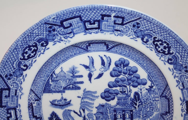 Other 19th Century Blue Willow Plates Made by L. Bamberger and Co. For Sale