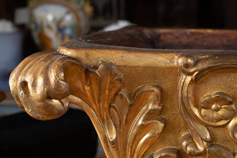 French 19thc Carved and Gilded Planter/Centerpiece For Sale