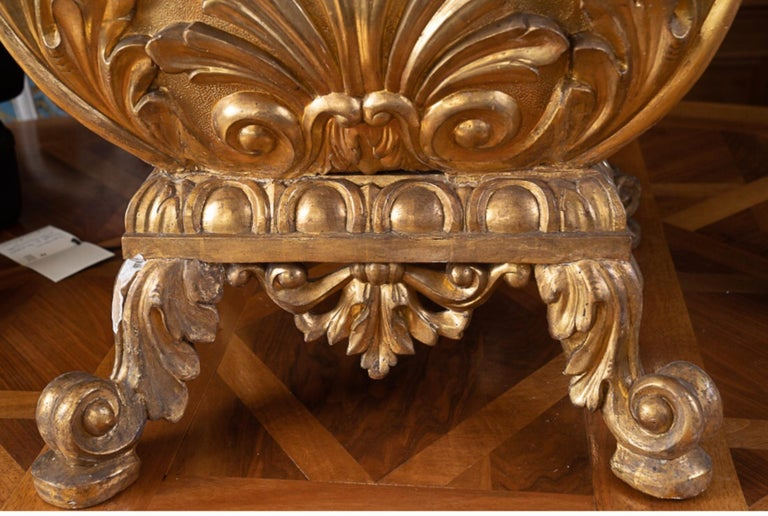 19th Century 19thc Carved and Gilded Planter/Centerpiece For Sale