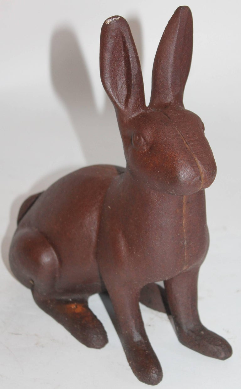19th Century Cast Iron Rabbits / Collection of Three For Sale 3