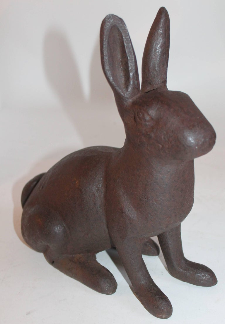 19th Century Cast Iron Rabbits / Collection of Three For Sale 1