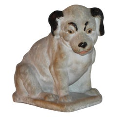 19th Century Chalk Dog with Original Paint