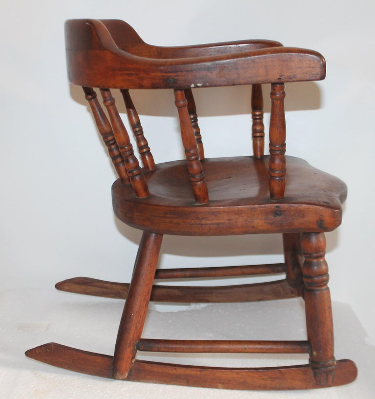 Country 19th Century Child's Windsor Rocker from New England For Sale