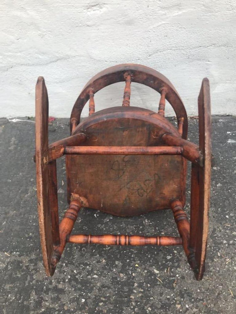 19th Century Child's Windsor Rocker from New England For Sale 2