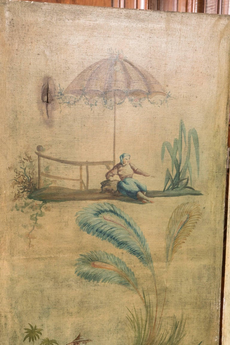 French 19th Century Chinoiserie Screen For Sale