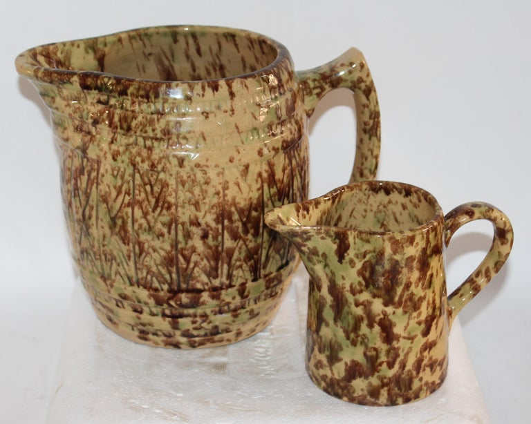Glazed 19th Century Collection of Bennington Pottery / 6 Pieces For Sale