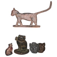 19th Century Collection of Primitive Iron Cats