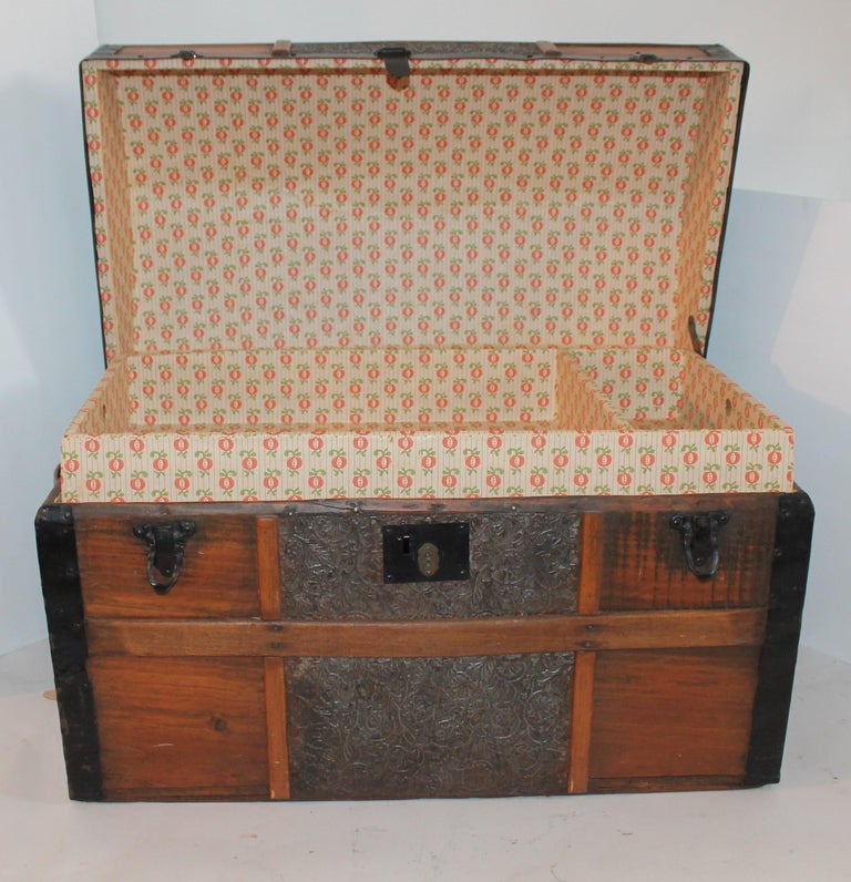 19th Century Dome Top Trunk In Good Condition For Sale In Los Angeles, CA