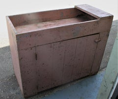 19th Century Dry Sink in  Original Dusty Rose Paint