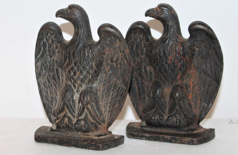These fantastic early cast iron black painted bookends are in great condition and retain their original black painted surface.