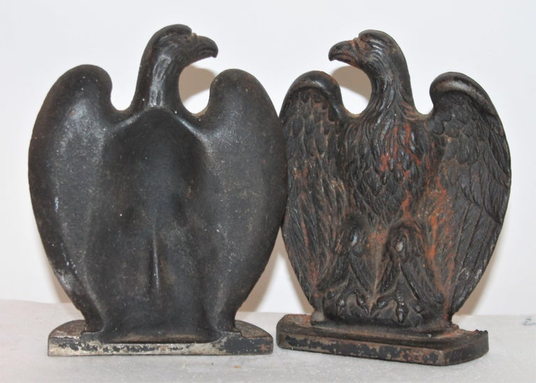 Adirondack 19th Century Eagle Iron Bookends, Pair