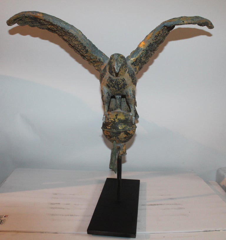 19th Century Eagle Weather Vane in Old Surface For Sale 2