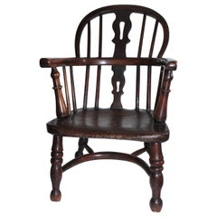 19th Century Early English Windsor Child's Chair