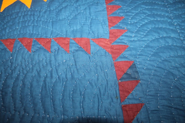 Cotton 19thc Early Lancaster Co. Pennsylvania Eight Point Star Quilt