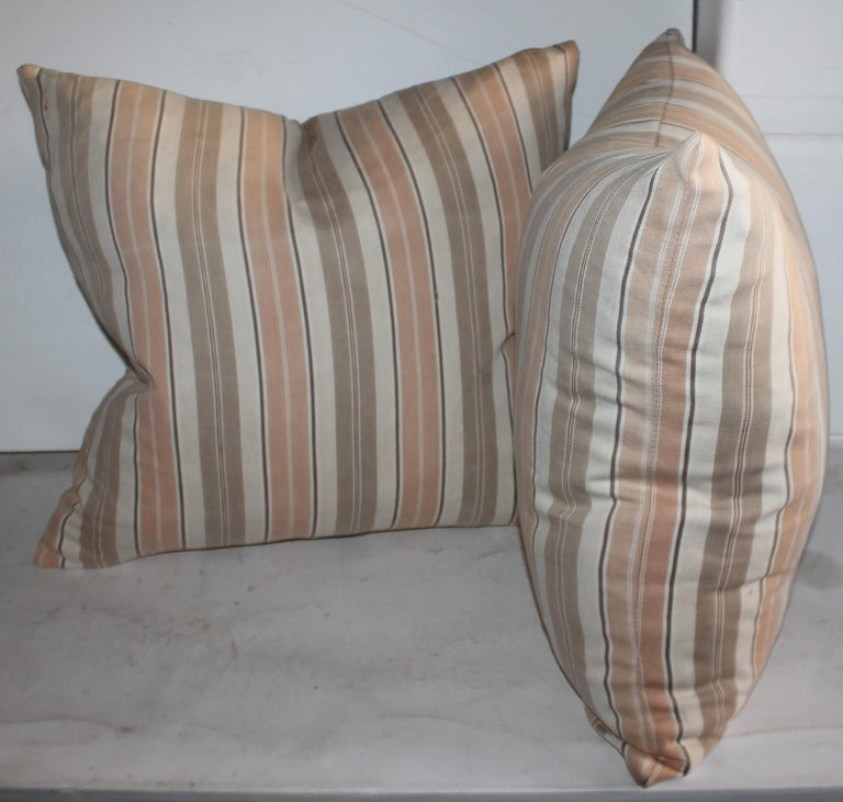 Adirondack 19Thc Early Ticking Pillows, Collection of Four Pillows For Sale