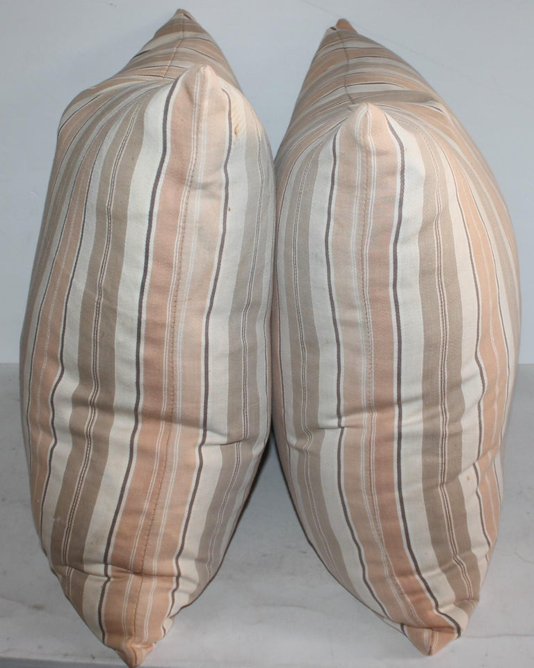 American 19Thc Early Ticking Pillows, Collection of Four Pillows For Sale