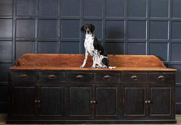 19th Century Ebonized Scottish Pine Counter Dresser Base/ Sideboard For Sale 6