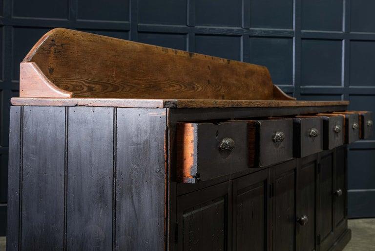 Late 19th Century 19th Century Ebonized Scottish Pine Counter Dresser Base/ Sideboard For Sale